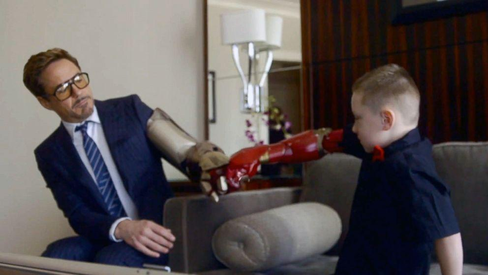 Robert Downey Jr. Presents 7-Year-Old With Bionic 'Iron Man' Arm